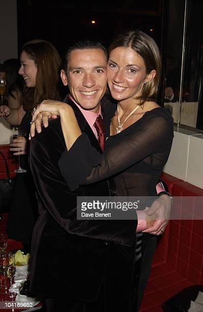Frankie Dettori And His Wife Mean Machine Movie Premiere Party Held At Isola In Knightsbridge London