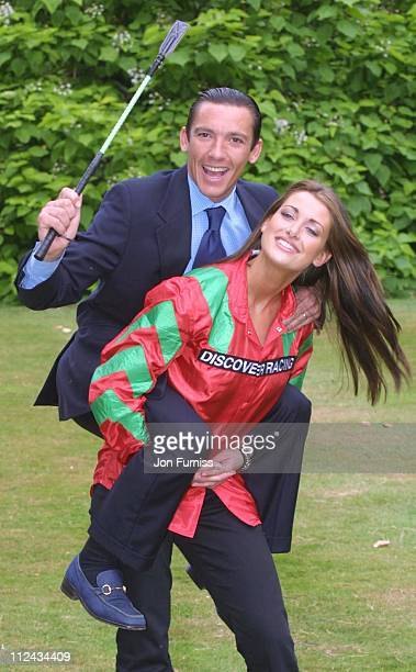 Frankie Dettori and Kirsty Gallacher during Frankie Dettori And Kirsty Gallacher Launch 'Discover Racing' Campaign in London Great Britain