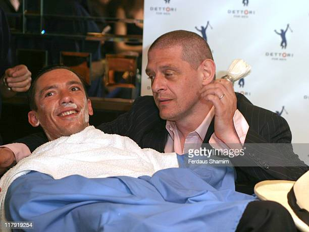Frankie Dettori and Marco Pierre White during Frankie Dettori Launches Men's Frangrance Range 'Dettori' at Frankies Bar Grill in London Great Britain