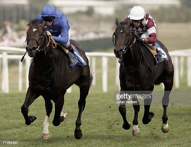 Frankie Dettori and The Godolphin trained Caradak get the better of the Shane Kelly ridden Saville Road to land The Lillian Summers Memorial...