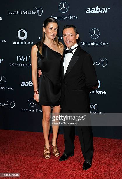 Frankie Dettori and wife Catherine attend the 2011 Laureus World Sports Awards at the Emirates Palace on February 7 2011 in Abu Dhabi United Arab...