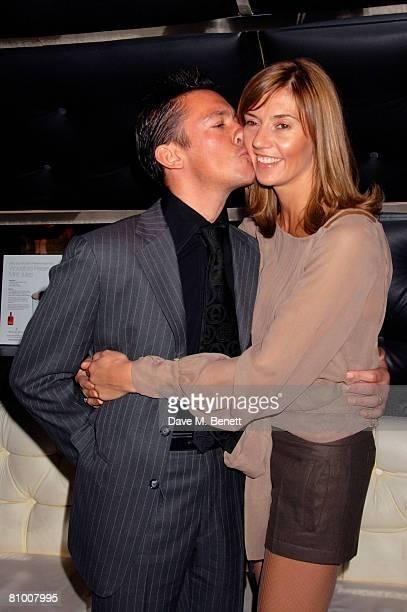 Frankie Dettori and wife Catherine attend the launch party for the Derby Festival 2008 at Gaucho on May 6 2008 in London England