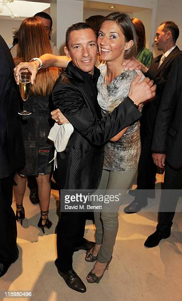 Frankie Dettori and wife Catherine Dettori attend the launch of jockey Frankie Dettori's new restaurant 'Cavallino' on June 13 2011 in London England