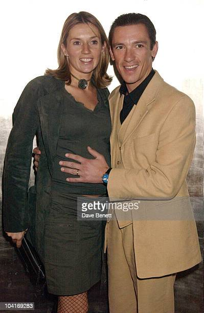 Frankie Dettori And Wife Seabiscuit Movie Premiere At Warner West End And After Party At Tthe Ballroom At Park Lane Hotel In London