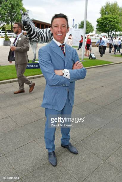 Frankie Dettori attends Ladies Day of the 2017 Investec Derby Festival at The Jockey Club's Epsom Downs Racecourse at Epsom Racecourse on June 2,...