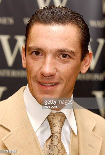 Frankie Dettori during Frankie Dettori Signs his New Book 'Frankie' at Waterstones September 23 2004 at Waterstones in London Great Britain
