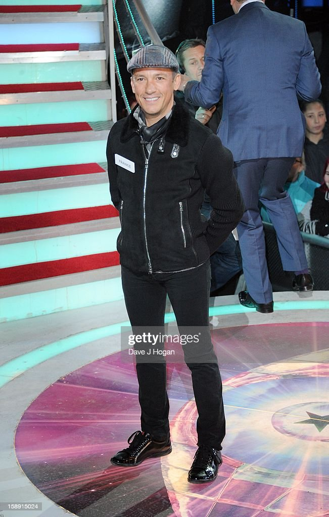 Frankie Dettori enters the Celebrity Big Brother House at Elstree Studios on January 3, 2013 in Borehamwood, England.