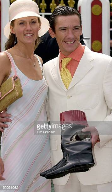 Frankie Dettori [ Lanfranco Dettori ] The Jockey With His Wife Katherine And His Lucky Boots On The First Day Of Ascot Races