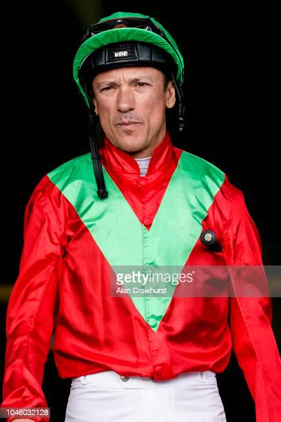 Frankie Dettori poses at Ascot Racecourse on October 5, 2018 in Ascot, United Kingdom.