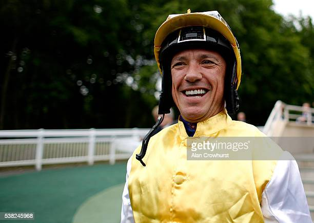 Frankie Dettori poses at Chantilly racecourse on June 5 2016 in Chantilly France