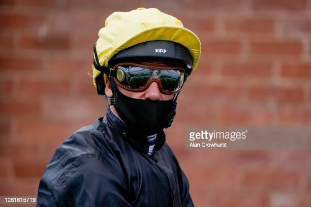 Frankie Dettori poses at Goodwood Racecourse on July 28 2020 in Chichester England Owners are allowed to attend if they have a runner at the meeting...