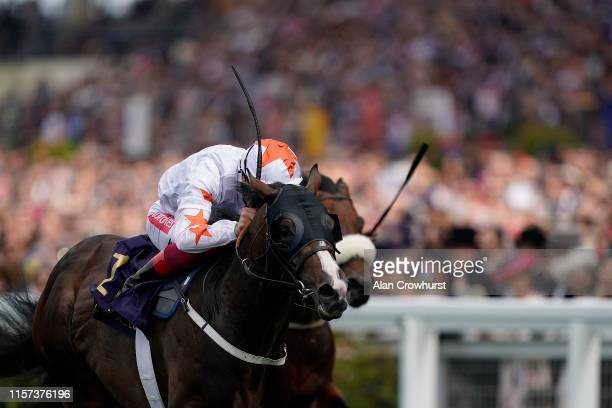 Frankie Dettori riding Advertise win The Commonwealth Cup on day four of Royal Ascot at Ascot Racecourse on June 21, 2019 in Ascot, England.