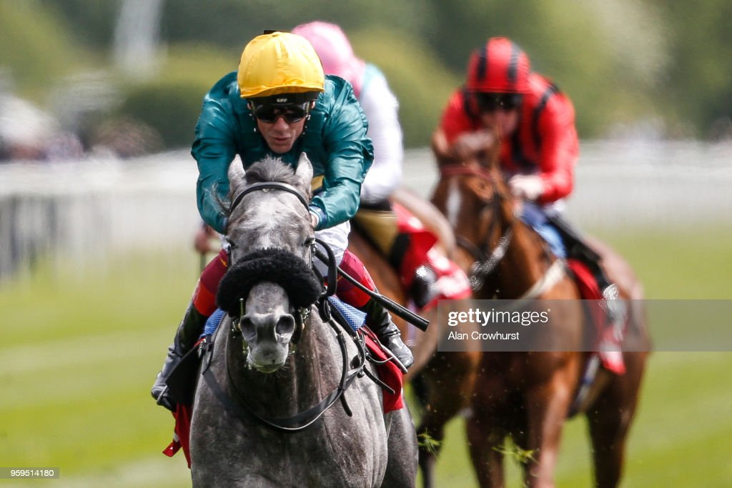 Frankie Dettori riding Coronet win The Betfred Middleton Stakes at York Racecourse on May 17, 2018 in York, United Kingdom.