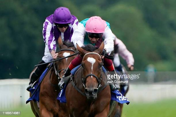 Frankie Dettori riding Enable win The Darley Yorkshire Oaks at York Racecourse on August 22 2019 in York England