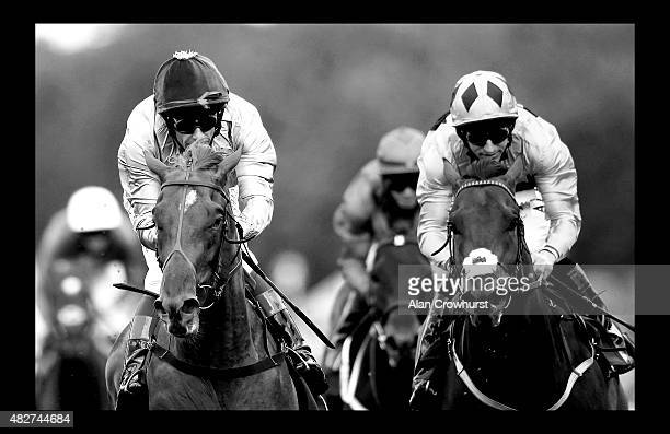 Frankie Dettori riding Galileo Gold win The Qatar Vintage Stakes at Goodwood racecourse on July 28 2015 in Chichester England