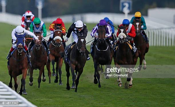 Frankie Dettori riding Journey win The Qipco British Champions Fillies Mares Stakes at Ascot Racecourse on October 15 2016 in Ascot England