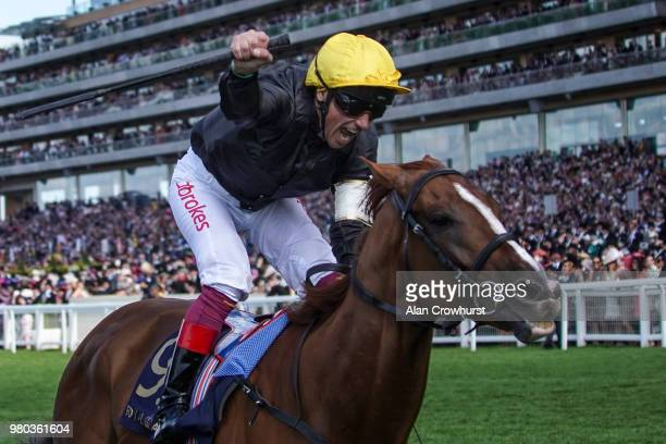Frankie Dettori riding Stradivarius win The Gold Cup on day 3 of Royal Ascot at Ascot Racecourse on June 21, 2018 in Ascot, England.