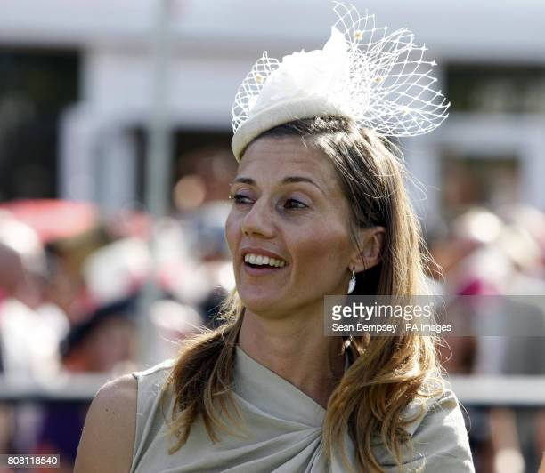 Frankie Dettori's wife Catherine during July Festival at Newmarket Racecourse Newmarket