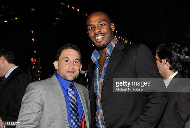 Frankie Edgar and Jon Jones attend UFC On FOX VIP Party at Mondrian Soho on May 3 2012 in New York City