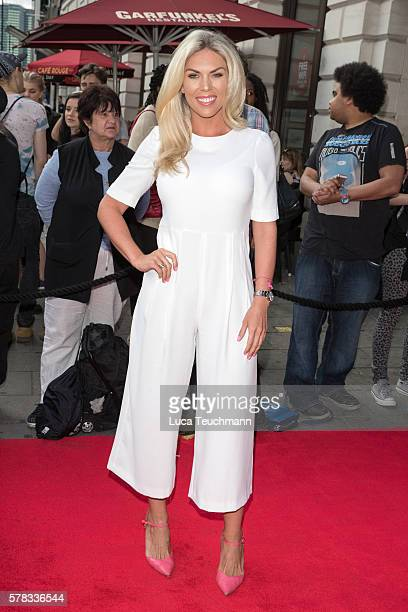 Frankie Essex arrives for The Bodyguard opening night at Dominion Theatre on July 21, 2016 in London, England.