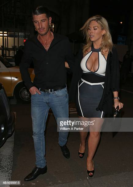 Frankie Essex attends Nuts Magazine Party held at Aura on January 23 2014 in London England