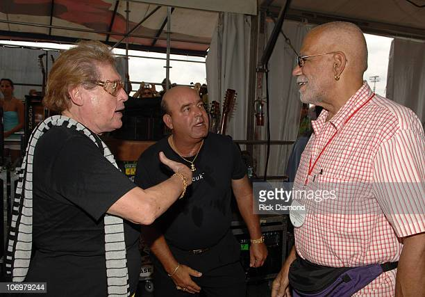 Frankie Ford and Ed Bradley during 37th Annual New Orleans Jazz Heritage Festival Presented by Shell Sightings May 6 2006 at New Orleans Fair Grounds...