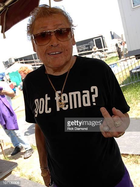 Frankie Ford His thoughts on FEMA during 38th Annual New Orleans Jazz and Heritage Festival Presented by Shell Backstage at New Orleans Fair Grounds...