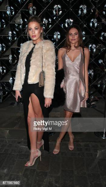 Frankie Gaff and Emily Blackwell seen attending Lipsy London VIP winter dinner held Rosewood London on November 22 2017 in London England