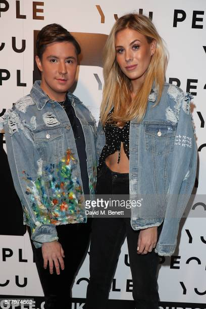 Frankie Gaff and Valentine Sozbilir attend the You People launch party on November 23 2017 in London England