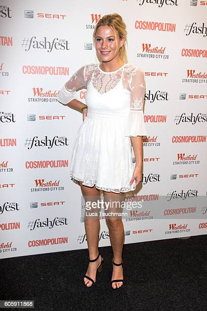 Frankie Gaff attends Cosmopolitan #Fashfest 2016 VIP show and party at Old Billingsgate Market on September 15 2016 in London England