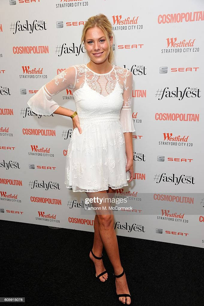 Frankie Gaff attends Cosmopolitan #Fashfest 2016 VIP show and party at Old Billingsgate Market on September 15, 2016 in London, England.