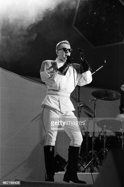 Frankie Goes To Hollywood performing in concert Holly Johnson pictured on stage 29th March 1985