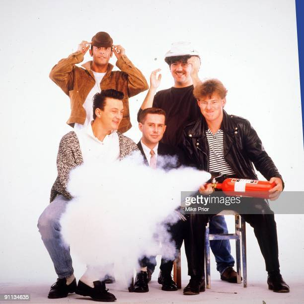 Frankie Goes To Hollywood posed in London in 1987 LR Top Paul Rutherford Peter Gill Bottom Mark O'Toole Holly Johnson Brian Nash