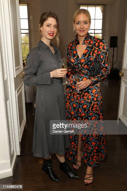 Frankie Graddon and Hermione Underwood attend the Outnet's 10th Anniversary Dinner on April 24 2019 in London England