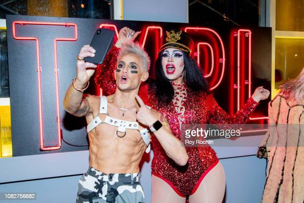 Frankie Grande and a guest attend the Susanne Bartsch and David Barton's Toy Drive at TMPL West Village at TMPL West Village on December 14 2018 in...