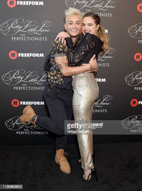 """Frankie Grande and Bailee Madison attend the """"Pretty Little Liars: The Perfectionists"""" Premiere at Hollywood Athletic Club on March 15, 2019 in..."""