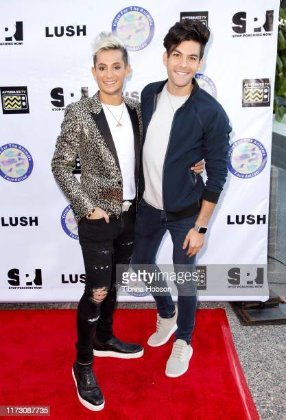 Frankie Grande and Hale Leon attend the Voice for Animals 3rd annual 'Wait Wait Don't Kill Me' comedy gala at The Broad Stage on September 07 2019 in...