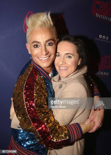 Frankie Grande and Lena Hall pose at Frankie Grande's Opening Night in 'Cruel Intentions The Musical' at Le Poisson Rouge on March 23 2018 in New...