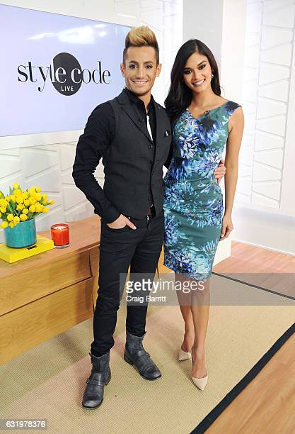 Frankie Grande and Miss Universe 2016 Pia Wurtzbach appears on Amazon's Style Code Live on January 9 2017 in New York City