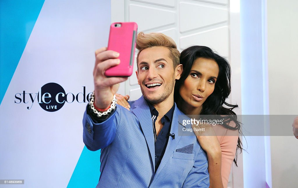 Frankie Grande and Padma Lakshmi appear on Amazon's new live stream show, 'Style Code Live' on March 09, 2016 in New York City.
