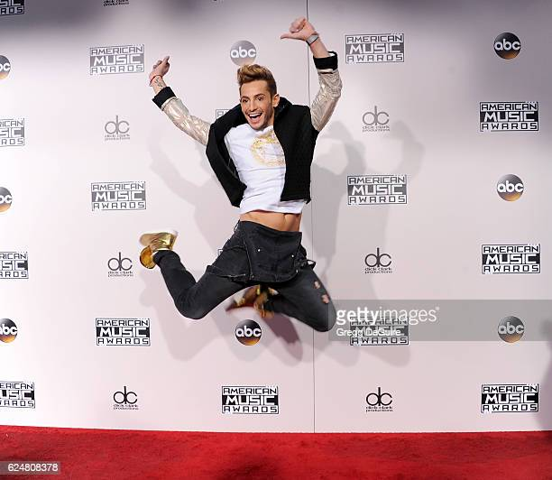 Frankie Grande arrives at the 2016 American Music Awards at Microsoft Theater on November 20, 2016 in Los Angeles, California.