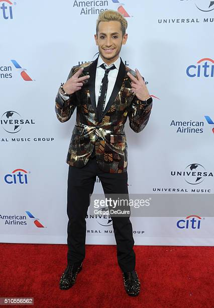 Frankie Grande arrives at Universal Music Group's 2016 GRAMMY After Party at The Theatre At The Ace Hotel on February 15 2016 in Los Angeles...