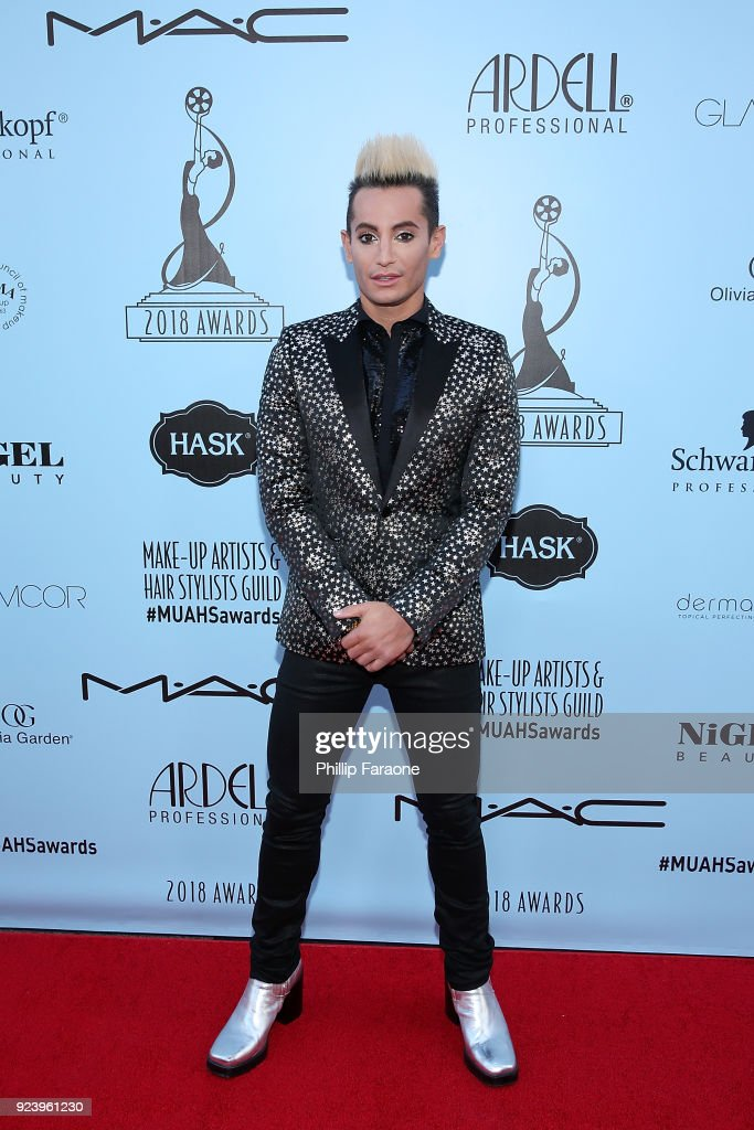 Frankie Grande attends the 2018 Make-Up Artists and Hair Stylists Guild Awards at The Novo by Microsoft on February 24, 2018 in Los Angeles, California.