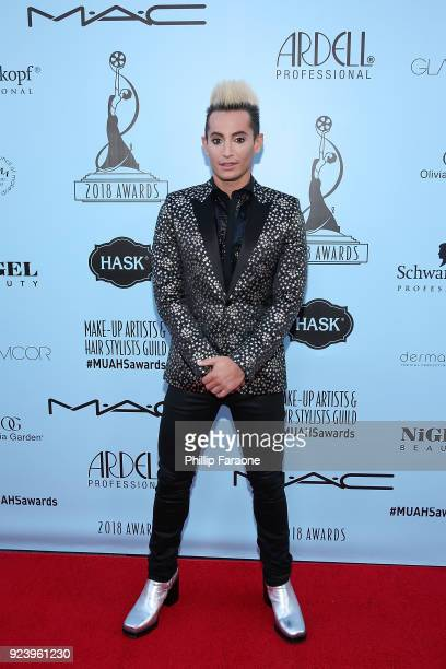 Frankie Grande attends the 2018 MakeUp Artists and Hair Stylists Guild Awards at The Novo by Microsoft on February 24 2018 in Los Angeles California