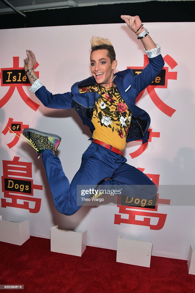 Frankie Grande attends the 'Isle Of Dogs' New York Screening at The Metropolitan Museum of Art on March 20, 2018 in New York City.