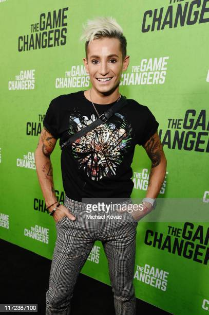 Frankie Grande attends the Los Angeles Premiere of The Game Changers Documentary at ArcLight Hollywood on September 04 2019 in Hollywood California