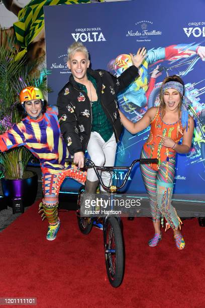 """Frankie Grande attends the LA Premiere Of Cirque Du Soleil's """"Volta"""" at Dodger Stadium on January 21, 2020 in Los Angeles, California."""