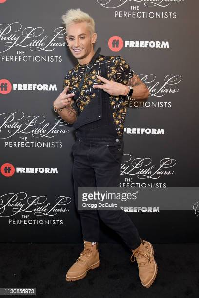 """Frankie Grande attends the """"Pretty Little Liars: The Perfectionists"""" Premiere at Hollywood Athletic Club on March 15, 2019 in Hollywood, California."""