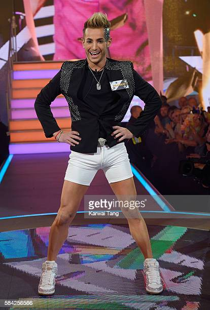 Frankie Grande enters the Big Brother House for the Celebrity Big Brother launch at Elstree Studios on July 28 2016 in Borehamwood England