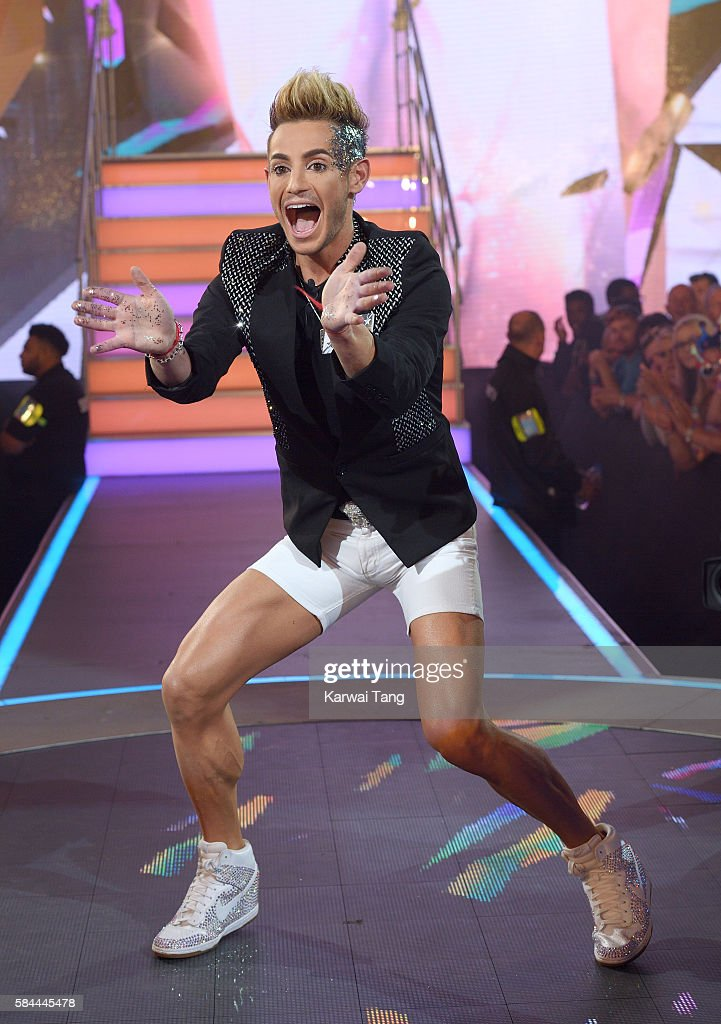 Frankie Grande enters the Big Brother House for the Celebrity Big Brother launch at Elstree Studios on July 28, 2016 in Borehamwood, England.